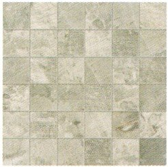 "Fossil Tile Mosaic 2"" x 2"" - Light Grey"
