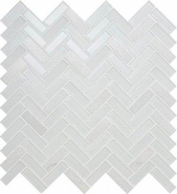 "Serentina Tile Herringbone 11 1/2"" x 12 3/4"" - Bliss"