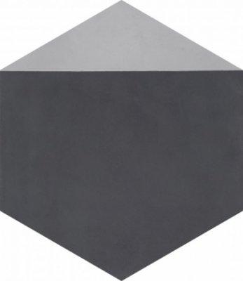 "Bati Orient Cement Tile Hexagon Modern 8"" x 9"" - Antracite/Grey"