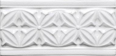 """Studio Tile Gables Deco 4"""" x 7.8"""" - Snow Cap"""