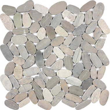 "Spa Pebbles Flat Mosaic 12"" x 12"" - Vitality Mica"