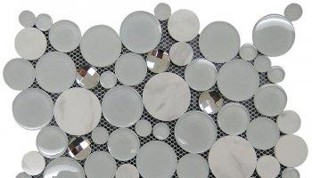 Alaska Glacier Sparkle Mosaic Tile - 11.6