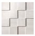 Mark Mosaic 3D Polished Tile 3 x 3 - Gypsum
