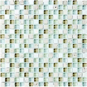"Bliss Glass Tile Blend Mosaic 5/8"" x 5/8"" - Spa"