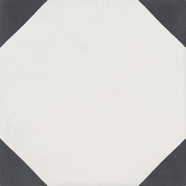 """Bati Orient Cement Tile Decor Modern Triangle 8"""" x 8"""" - Antracite/Off White"""