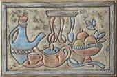 """Jerusalem Backsplash Tile Mural 8"""" x 12"""" - Verde"""