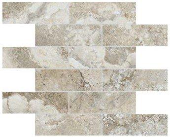 """Ottomano Tile Mosaic 2"""" x 6"""" - Sand"""