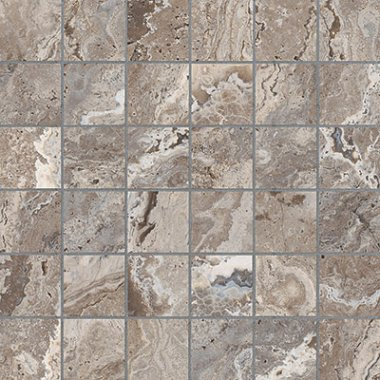 "Antico Tile Mosaic 2"" x 2"" - Walnut"