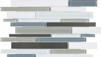 Bliss Stainless Glass Tile Mosaic - Nordic Storm