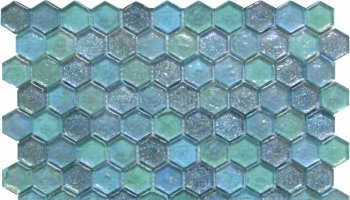 Glass Tile Hexagon Mosaic 12