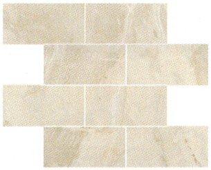 "Fossil Tile Mosaic 3"" x 6"" - Cream"