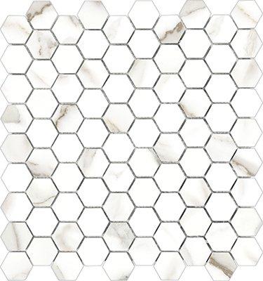 "Mayfair Tile HD Hexagon Mosaic 1.25"" x 1.25"" - Calacatta"