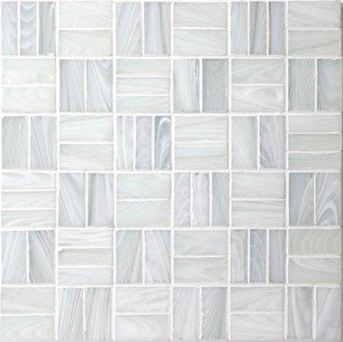 """Homespun Glass Tile Tweed 12"""" x 12"""" - Icelandic"""