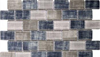 Glass Tile Fabric Print Brick Matte 10.3