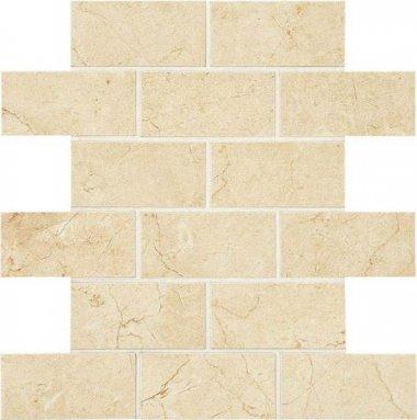 "Mirasol Tile Brick Joint Mosaic 2"" x 4"" - Crema Laila"