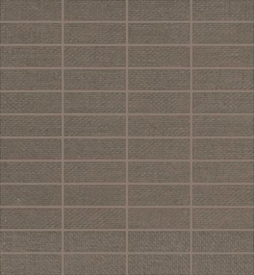 "Elemental Canvas Tile Mosaic 1"" x 3"" - Natural Burlap"