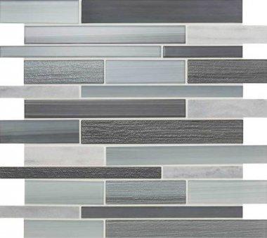 "Serentina Tile Random Interlocking 11 3/4"" x 13 1/4"" - Zen"