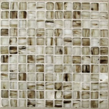 "Tea Box Glass Tile 11.7"" x 11.7"" - Cinnamon Stick"