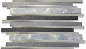 Aluminum Metal Tile - Metal Flow Nero