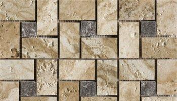 Archaeology Tile Pinwheel Mosaic 13