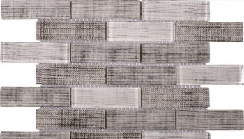 Glass Tile Fabric Print Matte Polished Mix 10.3
