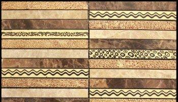 Artistic Golden Line 5 Mosaic Tile - 12