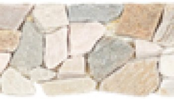 Quartzite Stone Tile Mosaic Interlocking Border 4