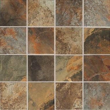 "Kendal Slate Tile Mosaic 3"" x 3"" - Carlisle Black"