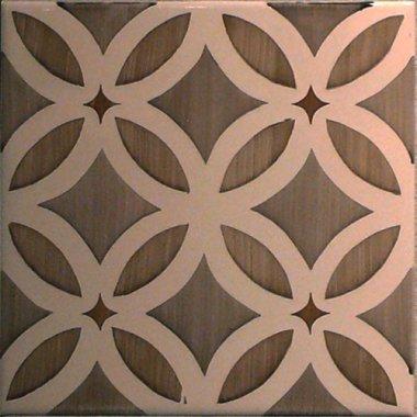 """Studio Tile Flower Deco Dusk 5.8"""" x 5.8"""" - Bamboo"""