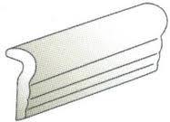 """Hampton Tile Chair Molding 1.4"""" x 6"""" - Bone"""