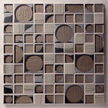 "Pop Rocks Glass Tile 11.8"" x 11.8"" - Jimi"