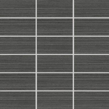 "Rapport Tile Mosaic Straight Joint 2"" x 4"" - Compatible Charcoal"