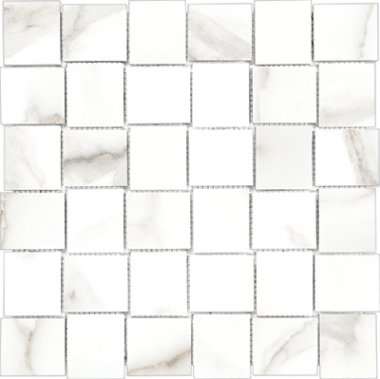 "Mayfair Tile HD Basketweave Mosaic Polished 2"" x 2"" - Calacatta"