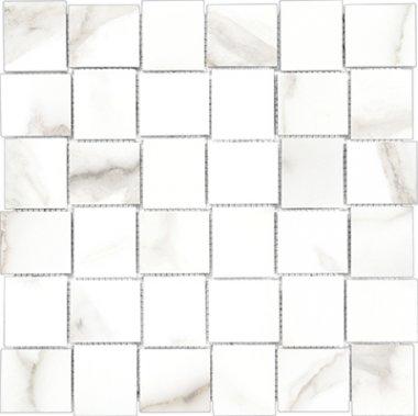 """Mayfair Tile HD Basketweave Mosaic 2"""" x 2"""" - Calacatta"""