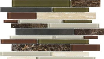 Bliss Stainless Glass Tile Mosaic - Deep Grotto