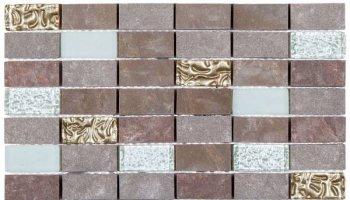 Quartzite Stone Tile Mosaic Brick 7/8