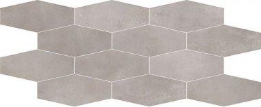"Interno Tile Losanga Mosaic 12"" x 24"" - Silver"