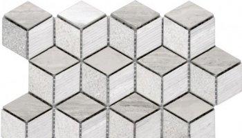 Stone Tile 3D Diamond Limestone Multi Finish 9.5