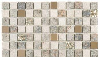 Quartzite Stone Tile Mosaic 7/8