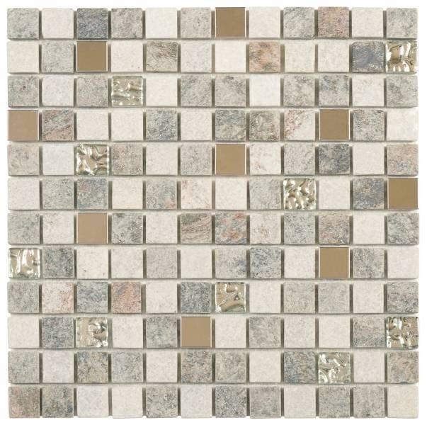 """Bati Orient - Quartzite Stone Tile Mosaic 7/8"""" x 7/8 ..."""
