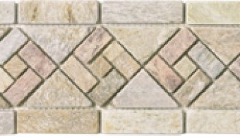 Quartzite Stone Tile Arrow Shaped Border 4 3/4