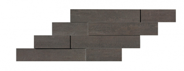 "Mark Mosaic Brick 3D Matte Tile 11 3/8"" x 23 1/4"" - Tobacco"