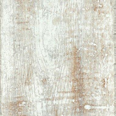 """PRYZM Vinyl Salvaged Plank 6.6"""" x 47.56"""" - White"""