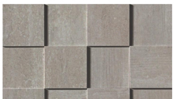 Mark Mosaic 3D Polished Tile 3 x 3 - Chrome