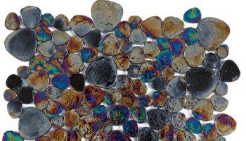 Glass Tile Japanese Pebbles Interlocking 12.1