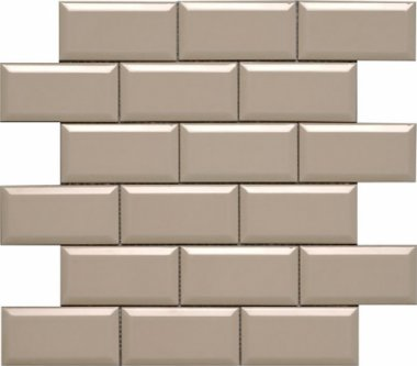 "Hampton Tile Beveled Mesh Mosaic 2"" x 4"" - Sand"