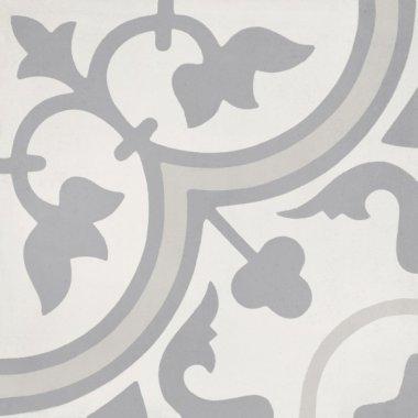 """Bati Orient Cement Tile Decor Classic 8"""" x 8"""" - Off White/Dark Grey/Light Grey"""