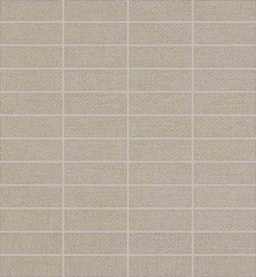 "Elemental Canvas Tile Mosaic 1"" x 3"" - Cool Gray"