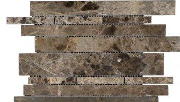 Emperador Dark Line Mosaic Linear - Emperador Dark