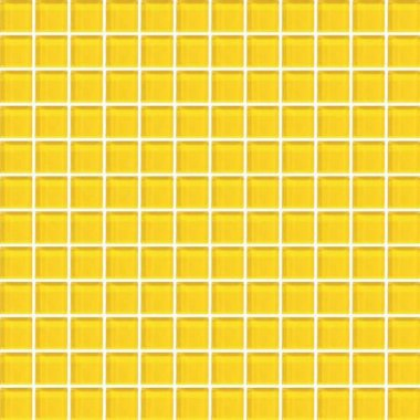 """Color Appeal Tile Mosaic 1"""" x 1"""" - Vibrant Yellow"""